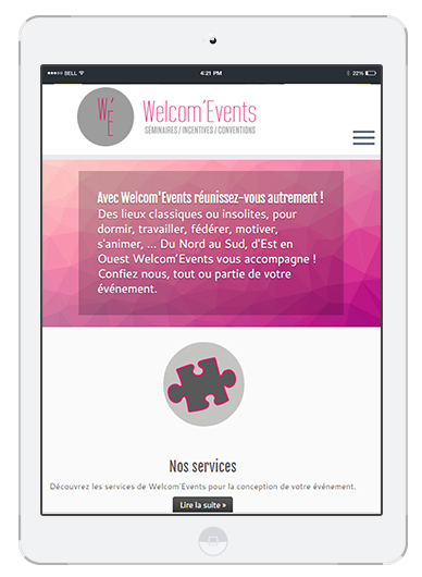 Welcom'Events Ipad